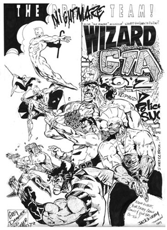 Wizard Comics Cover Nightmare team by Greg Dampier - Illustrator & Graphic Artist of Lake Wales, Florida