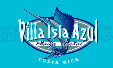 Villa Isla Azul Logo by Greg Dampier - Illustrator & Graphic Artist of Lake Wales, Florida