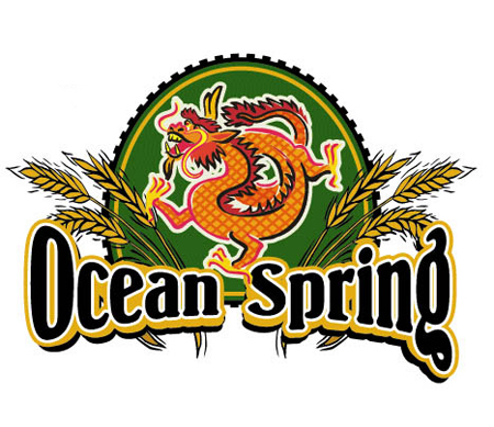 Ocean Spring Logo Option 1 by Greg Dampier - Illustrator & Graphic Artist of Lake Wales, Florida