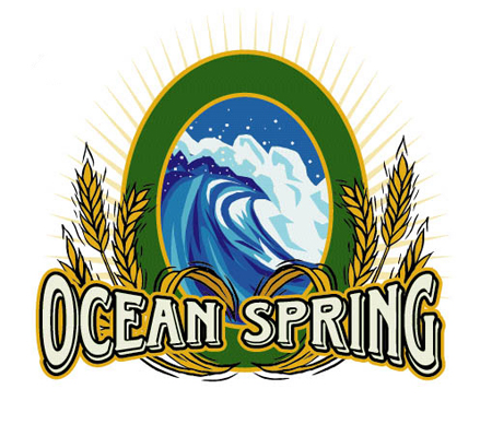 Ocean Spring Logo Option 2 by Greg Dampier - Illustrator & Graphic Artist of Portland, Oregon