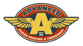 Advanced Screen Printing Logo Option 1 by Greg Dampier - Illustrator & Graphic Artist of Lake Wales, Florida