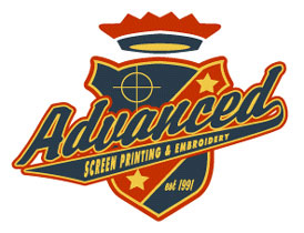 Advanced Screen Printing Logo Option 2 by Greg Dampier - Illustrator & Graphic Artist of Portland, Oregon