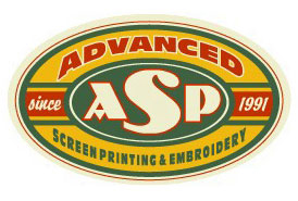Advanced Screen Printing Logo Option 7 by Greg Dampier - Illustrator & Graphic Artist of Lake Wales, Florida