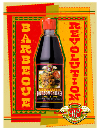 BC - BBQ Revolution Label by Greg Dampier - Illustrator & Graphic Artist of Lake Wales, Florida