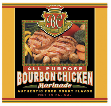 BC - Bourbon Chicken Label 2 by Greg Dampier - Illustrator & Graphic Artist of Lake Wales, Florida