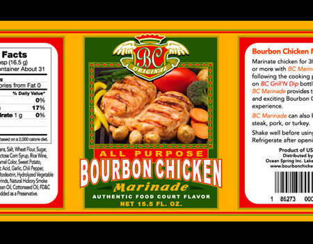 BC - Bourbon Chicken Label 3 by Greg Dampier - Illustrator & Graphic Artist of Portland, Oregon