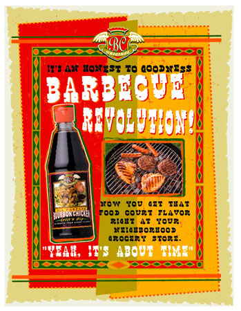 BC - BBQ Revolution Label 2 by Greg Dampier - Illustrator & Graphic Artist of Lake Wales, Florida