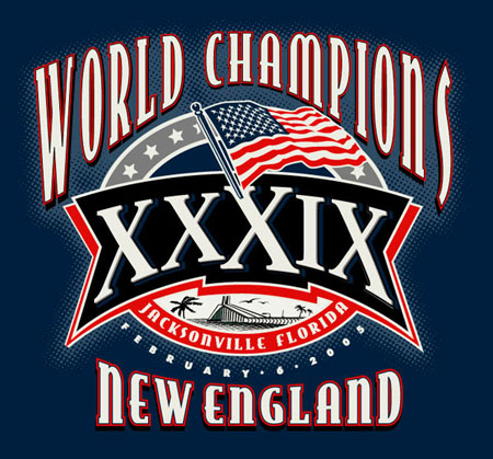 New England - World Champs1 by Greg Dampier - Illustrator & Graphic Artist of Portland, Oregon