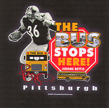 Pittsburgh - Jerome Bettis - 2 by Greg Dampier - Illustrator & Graphic Artist of Lake Wales, Florida