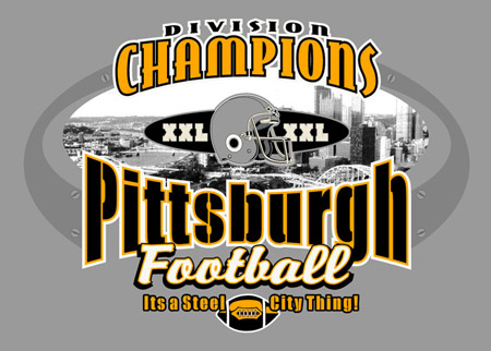 Pittsburgh - Division Champs by Greg Dampier - Illustrator & Graphic Artist of Portland, Oregon