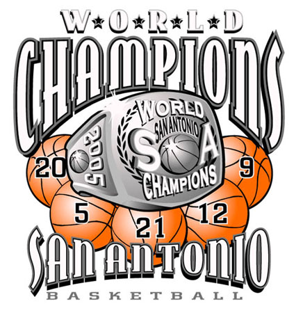 San Antonio - 2005 World Champs by Greg Dampier - Illustrator & Graphic Artist of Portland, Oregon