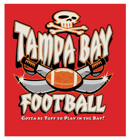 Tampa Bay - Bucs Football by Greg Dampier - Illustrator & Graphic Artist of Portland, Oregon