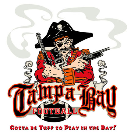 Tampa Bay - Bucs - Pirate by Greg Dampier - Illustrator & Graphic Artist of Portland, Oregon