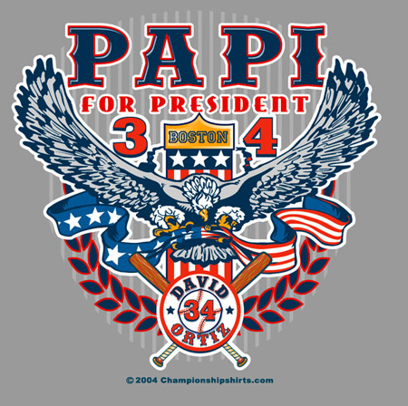 Boston - Papi for President by Greg Dampier - Illustrator & Graphic Artist of Portland, Oregon