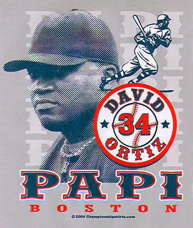 Boston - Papi - David Ortiz by Greg Dampier - Illustrator & Graphic Artist of Lake Wales, Florida