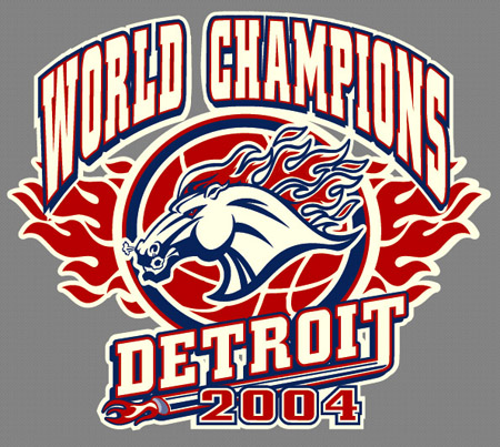 Detroit - World Champs 04 2 by Greg Dampier - Illustrator & Graphic Artist of Portland, Oregon