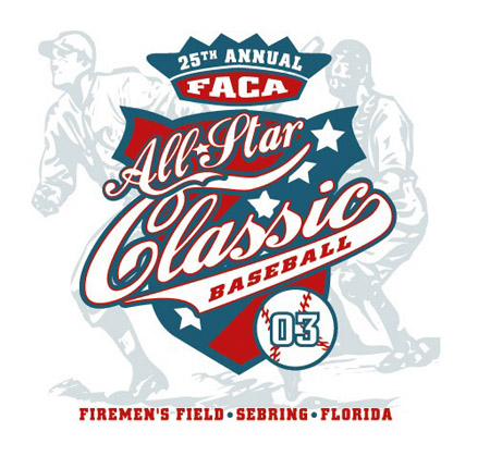 Sebring - 25th FACA Allstar Baseball by Greg Dampier - Illustrator & Graphic Artist of Portland, Oregon