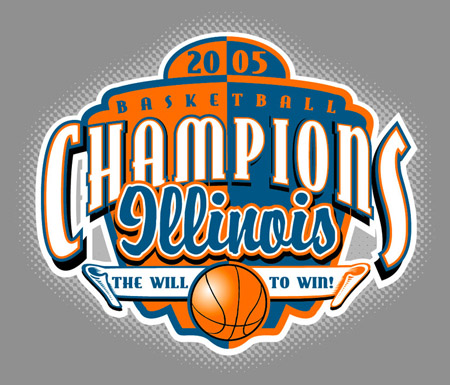Illinois - 2005 Champions by Greg Dampier - Illustrator & Graphic Artist of Portland, Oregon