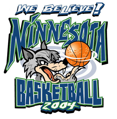 Minnesota Basketball Wolves2 by Greg Dampier - Illustrator & Graphic Artist of Portland, Oregon