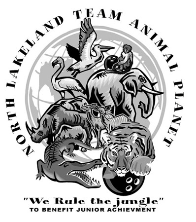 Lakeland - North Animal Planet Bowling by Greg Dampier - Illustrator & Graphic Artist of Portland, Oregon