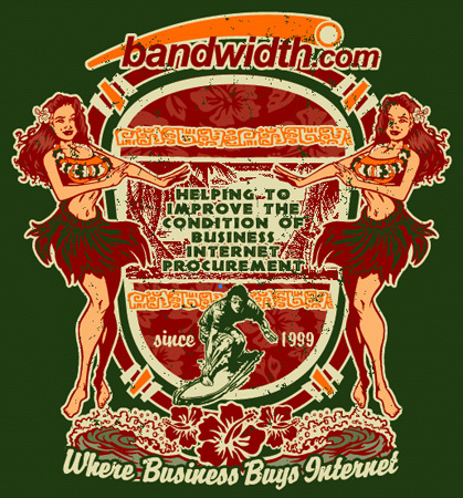 Bandwidth.com Shirt 4 by Greg Dampier - Illustrator & Graphic Artist of Lake Wales, Florida