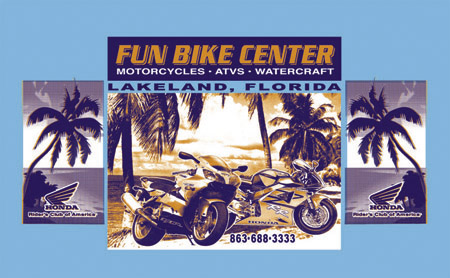 Fun Bike Center by Greg Dampier - Illustrator & Graphic Artist of Lake Wales, Florida