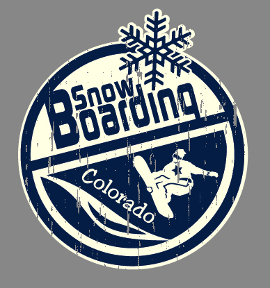 Colorado - Snow Boarding by Greg Dampier - Illustrator & Graphic Artist of Portland, Oregon