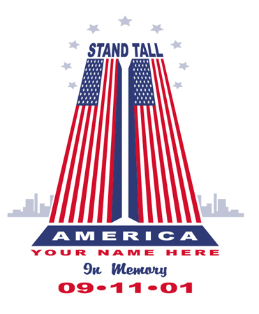 Stand Tall - 911 by Greg Dampier - Illustrator & Graphic Artist of Portland, Oregon