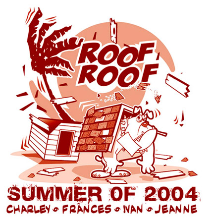 Summer of 2004 - Roof Roof by Greg Dampier - Illustrator & Graphic Artist of Lake Wales, Florida