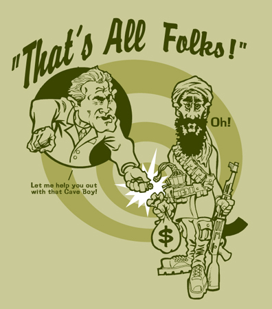 Bush - Osama - Thats all folks by Greg Dampier - Illustrator & Graphic Artist of Portland, Oregon