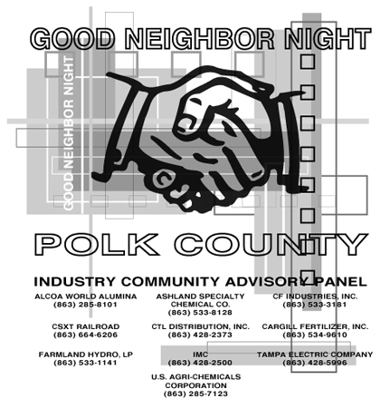 Polk County - Good Neighbor Night by Greg Dampier - Illustrator & Graphic Artist of Portland, Oregon