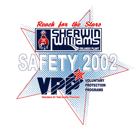 Sherwin Williams - Safety 2002 by Greg Dampier - Illustrator & Graphic Artist of Portland, Oregon