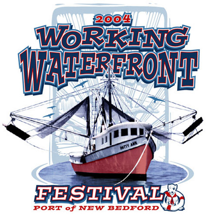 Working Waterfront 1- 2004 by Greg Dampier - Illustrator & Graphic Artist of Portland, Oregon