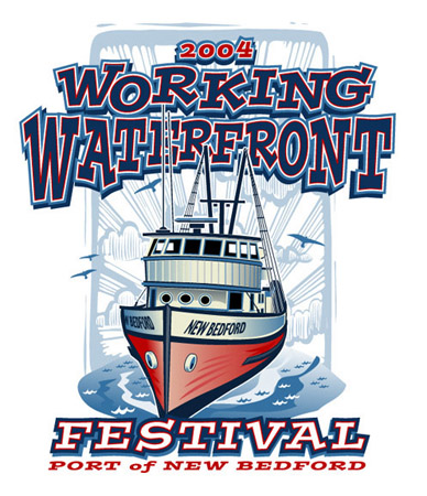 Working Waterfront 2- 2004 by Greg Dampier - Illustrator & Graphic Artist of Portland, Oregon