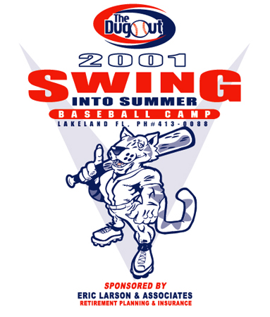 Swing 2001 - Baseball Camp by Greg Dampier - Illustrator & Graphic Artist of Lake Wales, Florida