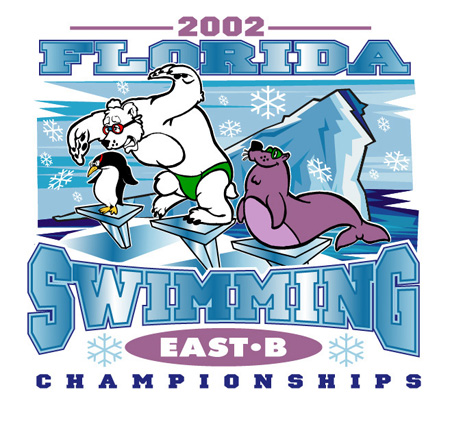 2002 Florida Swimming by Greg Dampier - Illustrator & Graphic Artist of Lake Wales, Florida