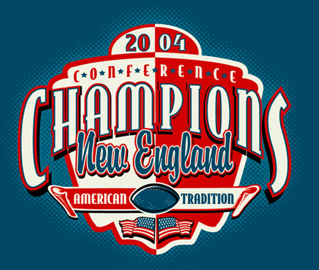 New England - Conference Champs - 04 by Greg Dampier - Illustrator & Graphic Artist of Portland, Oregon