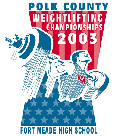 Polk County - Weightlifting 2003 by Greg Dampier - Illustrator & Graphic Artist of Portland, Oregon