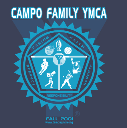 Campo Family YMCA 2001 by Greg Dampier - Illustrator & Graphic Artist of Portland, Oregon