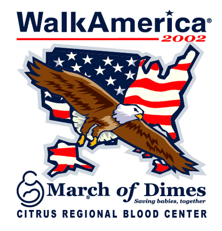 March of Dimes Walk America 02 by Greg Dampier - Illustrator & Graphic Artist of Portland, Oregon