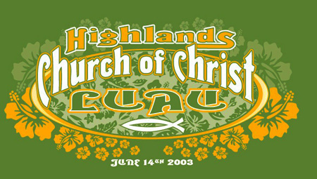 Highlands Church of Christ Luau by Greg Dampier - Illustrator & Graphic Artist of Portland, Oregon