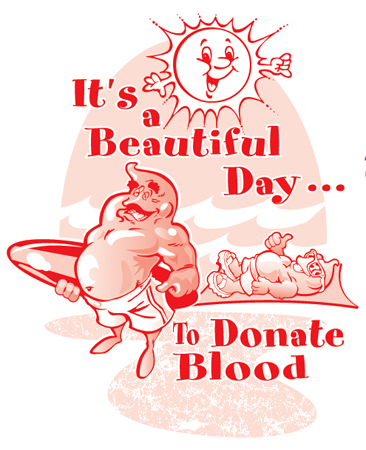 Beautiful Day to donate by Greg Dampier - Illustrator & Graphic Artist of Portland, Oregon