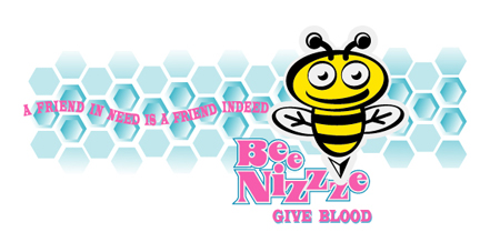 Bee Nizze - Give Blood by Greg Dampier - Illustrator & Graphic Artist of Portland, Oregon