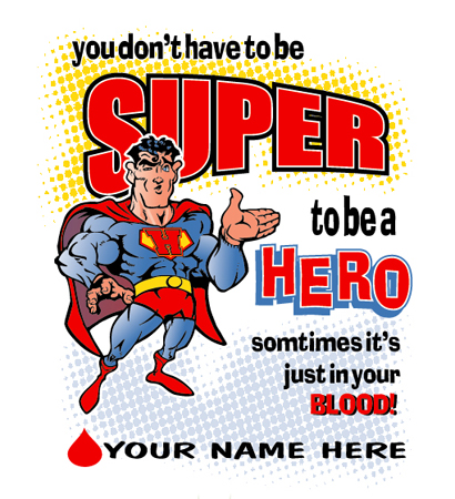 Super Hero Donate by Greg Dampier - Illustrator & Graphic Artist of Portland, Oregon