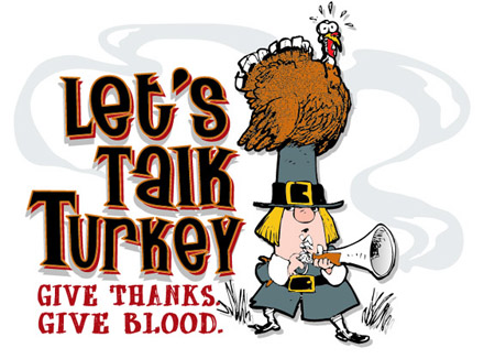 Lets talk Turkey - give blood by Greg Dampier - Illustrator & Graphic Artist of Lake Wales, Florida