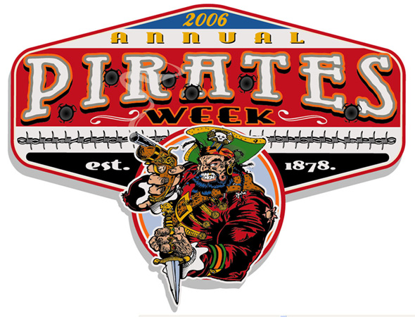 CAYMAN PIRATE WEEK by Greg Dampier - Illustrator & Graphic Artist of Portland, Oregon