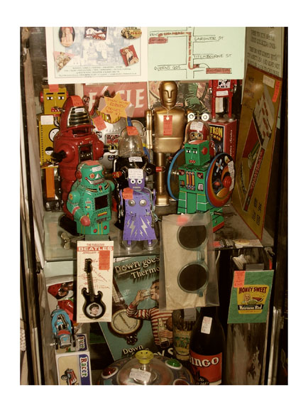 vintage robots for sale photo by greg dampier by Greg Dampier - Illustrator & Graphic Artist of Portland, Oregon