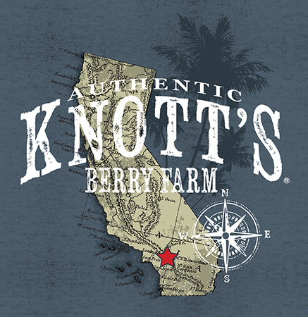 Knotts California map design by Greg Dampier - Illustrator & Graphic Artist of Portland, Oregon