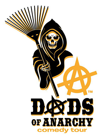 Dads of Anarchy Comedy Tour Logo by Greg Dampier - Illustrator & Graphic Artist of Lake Wales, Florida