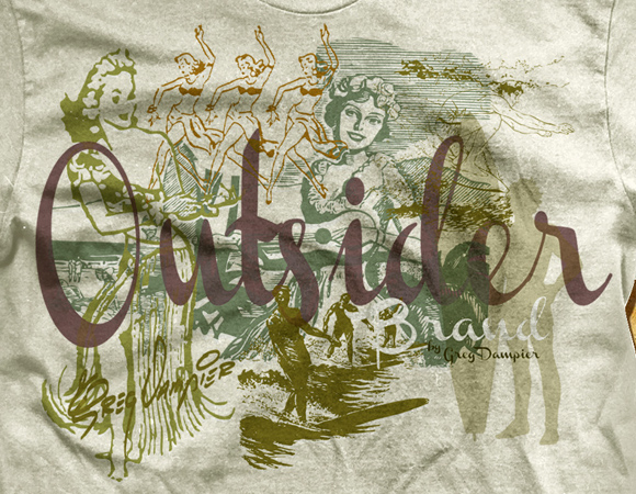Outsider brand vintage hawaii by Greg Dampier - Illustrator & Graphic Artist of Portland, Oregon